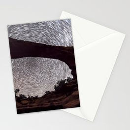 Night sky at Owachomo Bridge Stationery Cards