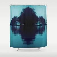 finland Shower Curtains featuring Finland Mysteries by Onaaa