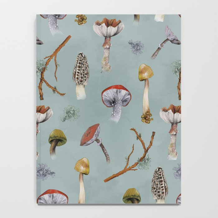 Mushroom Forest Party Notebook