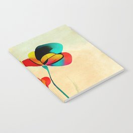 Exotic Watercolor Flower Notebook