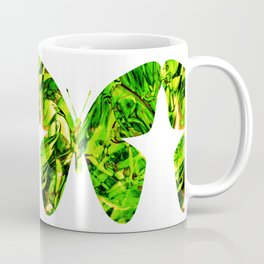 Fluid Butterfly (Green Version) Coffee Mug