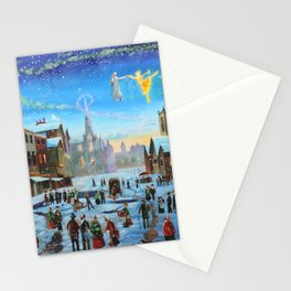 """A Christmas Carol """"Scrooge and the ghost of Christmas past"""" Stationery Cards"""