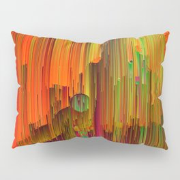 Radioactive - Abstract Glitched Pixel Art Pillow Sham