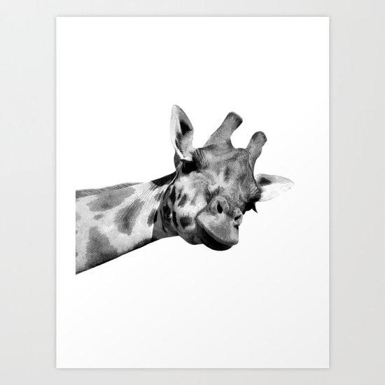 Black and white giraffe by alemi