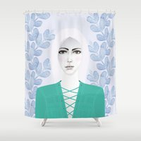 army Shower Curtains featuring Army Girl by EISENHART