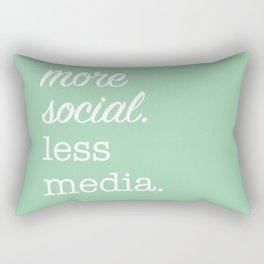 More Social Less Media (green) Rectangular Pillow