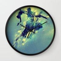 soul Wall Clocks featuring Soul by Pete Harrison
