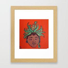 Native Face 8 Framed Art Print