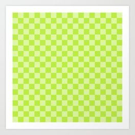 Citrus Checkerboard Art Print