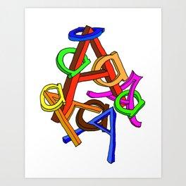 A Tangle Art Print