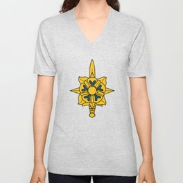 Army Military Intelligence Corps Branch Veteran Insignia Unisex V-Neck