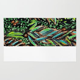 A Good Tropical Pattern With a Black Background is Hard to Find Rug