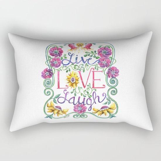Live Love Laugh Rectangular Pillow