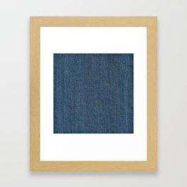Blue Denim Texture Framed Art Print