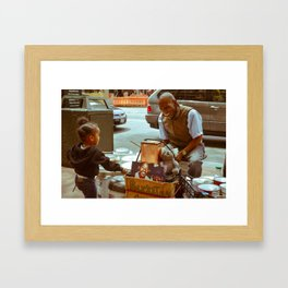 Compassion in the City Framed Art Print