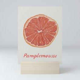 Pamplemousse Pink Grapefruit  Mini Art Print