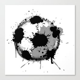 Grunge football ball Canvas Print