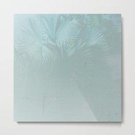Faded Blue Palms Metal Print