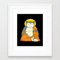 snorlax Framed Art Prints featuring Snorlax by Yamilett Pimentel