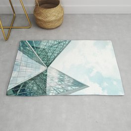 Turquoise Glass Building Rug