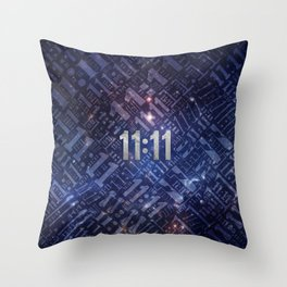 Eleven Eleven Numerology Pattern #4 Throw Pillow