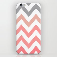 CORAL FADE CHEVRON iPhone & iPod Skin