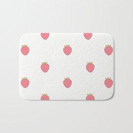 Kawaii Cute Strawberry Print Bath Mat