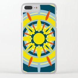 Yellow Sicily Clear iPhone Case