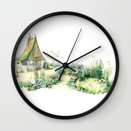 Literary Garden for Wizards and Gnomes Wall Clock