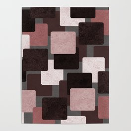 Geometric Marble 06 (abstract) Poster