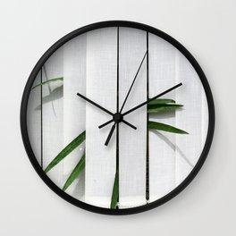 Green behind Wall Clock
