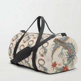 Botanical Flower Dragon 8 Duffle Bag