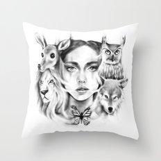 Tangled Existence (Spirit Animals) Throw Pillow