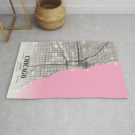 Chicago - Illinois Neapolitan City Map Rug