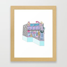 The Crescent Framed Art Print