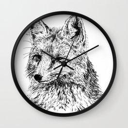 Oh, For Fox Sake Wall Clock