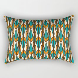 Twilight forest pattern in retro style Rectangular Pillow