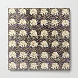 Asian Floral Pattern Metal Print