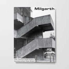 Concrete Leeds - Milgarth Police Station Metal Print