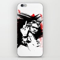beethoven iPhone & iPod Skins featuring Beethoven FU by viva la revolucion