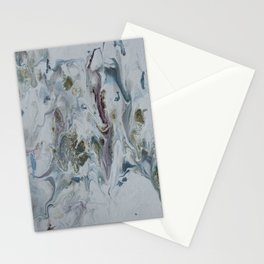 Teal, Eggplant, and Gold Marble Stationery Cards