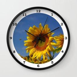 Sunny Summer Sunflower Wall Clock