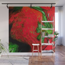 Strawberry Fruit Art Deco Wall Mural