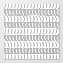 Wavy Stripes Gray 2 Canvas Print