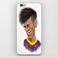 neymar iPhone & iPod Skins featuring Neymar - Barcelona by Sant Toscanni