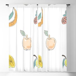 Seamless Pattern with Cute Fruits.  Scandinavian Style Blackout Curtain