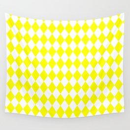 Diamonds (Yellow/White) Wall Tapestry