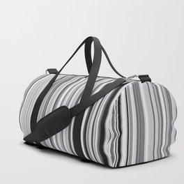Old Skool Stripes - 50 Shades of Gray Duffle Bag