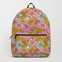 Tie Dye Flower Print Backpack