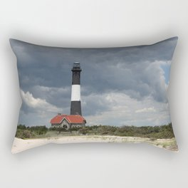 Dramatic Sky Over Fire Island Light Rectangular Pillow